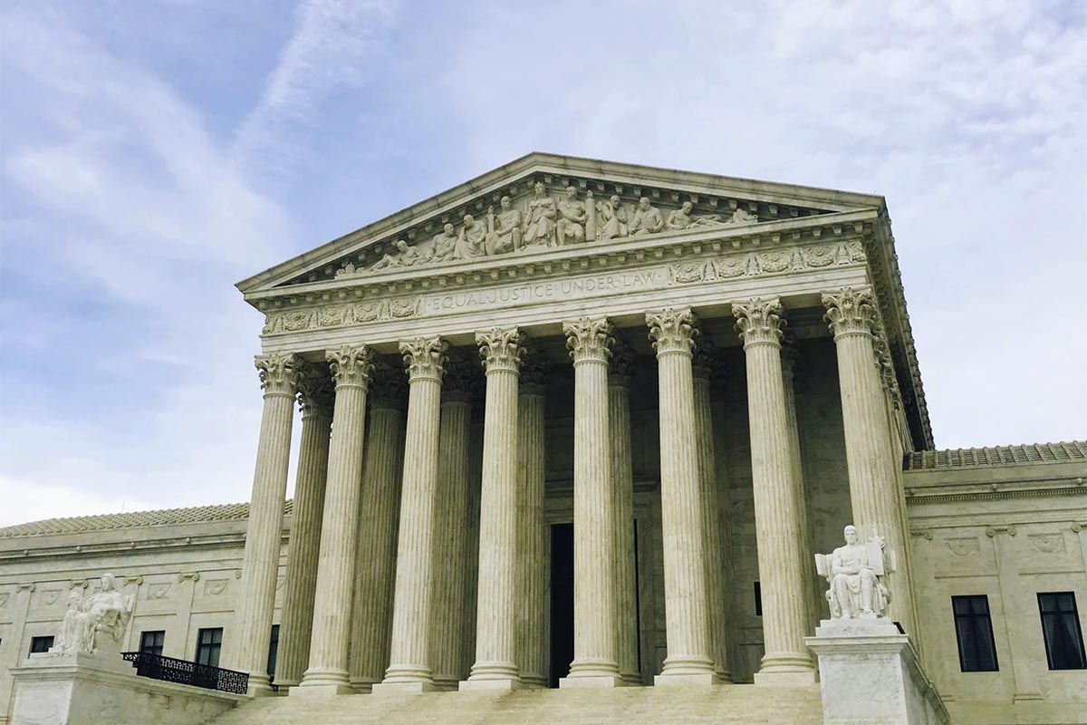 Picture of the front of the U.S. Supreme Court.
